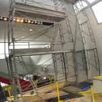 The massive scaffolding